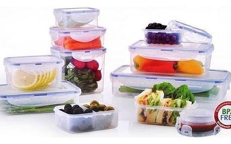 Sada potravinových dóz Lock&lock 11 ks plast + Doprava zdarma