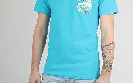 Tričko Vans Mn Side Stripe Pocke Teal-Baltic Dec Modrá