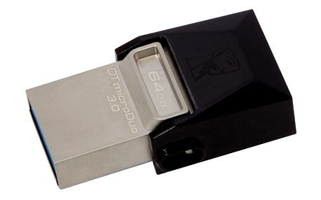 USB Flash Kingston 64GB (DTDUO3/64GB) černý