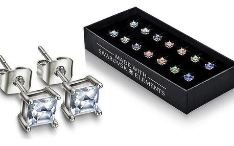 Sada 7 párů náušnic s krystaly Swarovski® GemSeller Night