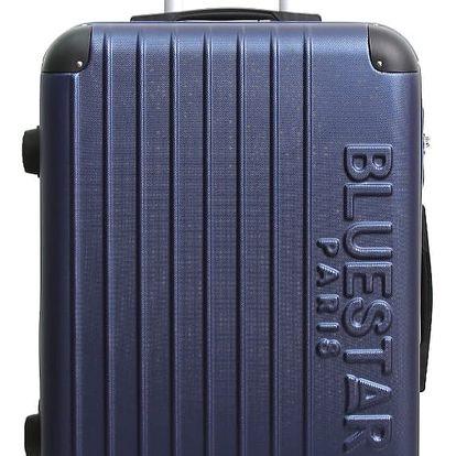 Tmavě moderý cestovní kufr na kolečkách Blue Star Bucarest, 57l - doprava zdarma!