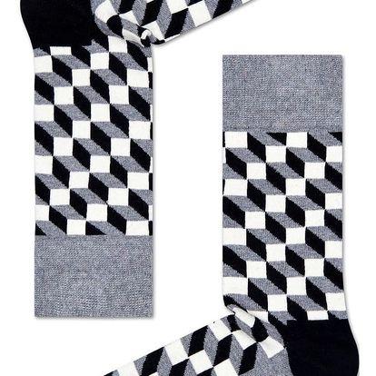 Happy Socks vzorované dámské ponožky Filled Optic
