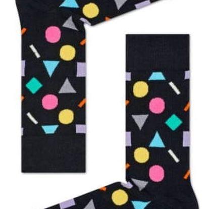 Happy Socks černé dámské ponožky Play