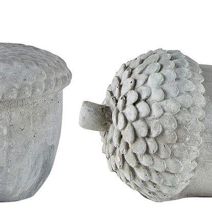 Sada 2 šedých dekorativních sošek KJ Collection Cone II
