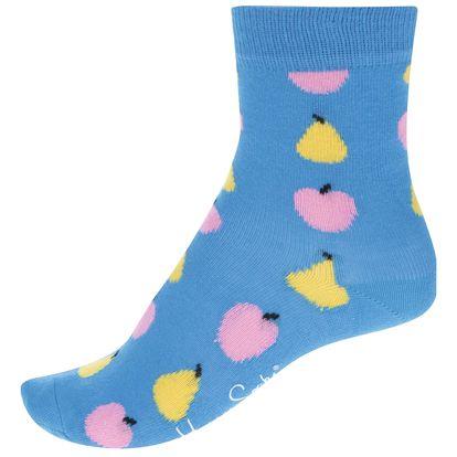 Modré dětské ponožky s motivem ovoce Happy Socks Fruit