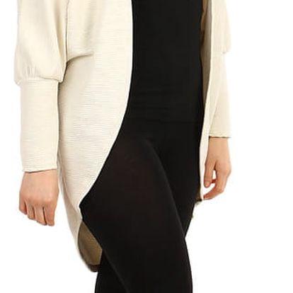 Oversized svetr bez zapínání - i pro plnoštíhlé krémová