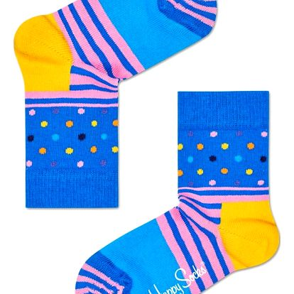 Happy Socks barevné dětské ponožky Stripe Dot