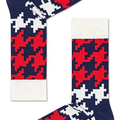 Happy Socks barevné pánské ponožky Dogtooth
