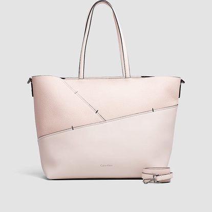 Calvin Klein pudrová kabelka Luna Medium Tote Sta