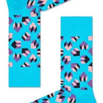 Happy Socks modré pánské ponožky Steps
