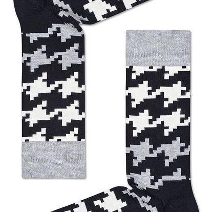 Happy Socks černo-bílé ponožky Digi