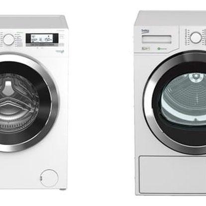 Set (Sušička prádla Beko DPY 8506 GXB1) + (Automatická pračka Beko Superia WMY 61243 CS PTLB1) + DOPRAVA ZDARMA