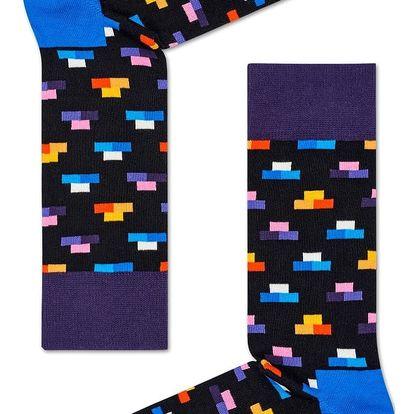 Happy Socks černé dámské ponožky Bricks