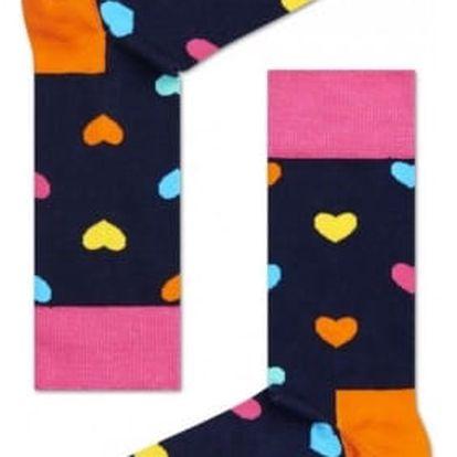Happy Socks tmavě modré pánské ponožky Heart