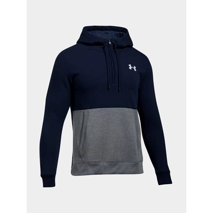 Mikina Under Armour Threadborne 1/2 Zip Hoodie Modrá