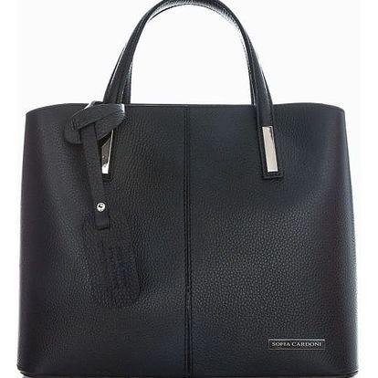 Černá kožená kabelka Sofia Cardoni Troso - doprava zdarma!