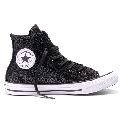 Converse černé třpytivé dámské tenisky Chuck Taylor All Star Black/White