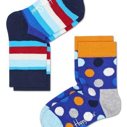 Happy Socks barevná sada dětských ponožek