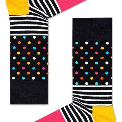 Happy Socks barevné pánské ponožky Stripe Dot
