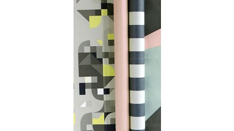 House Doctor Balící papír Colours Pruhy, multi barva, papír
