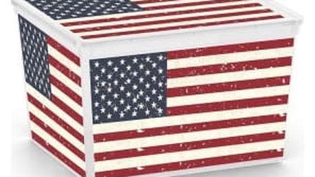 C Box American Flag Cube 27l