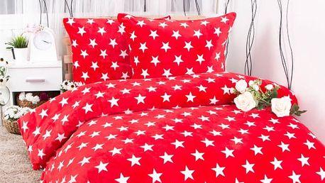 XPOSE ® Francouzské povlečení mikroflanel TARA - červená 200x220, 70x90