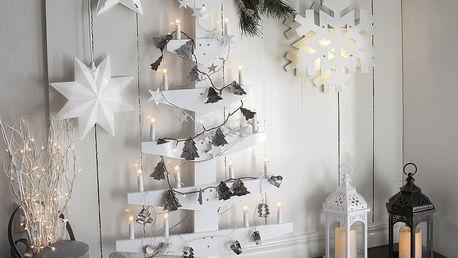 Bílá nástěnná svítící dekorace Best Season Wall Tree - doprava zdarma!
