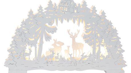 Svítcí bílá LED dekorace Best Season Fauna