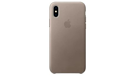 Kryt na mobil Apple Leather Case pro iPhone X - kouřový (MQT92ZM/A)