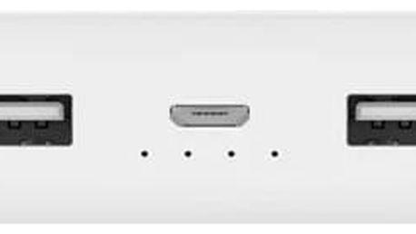 Xiaomi Powerbank 2 20000 mAh - externí bateriový zdroj, bílá