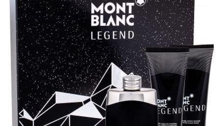 Montblanc Legend dárková kazeta pro muže toaletní voda 100 ml + balzám po holení 100 ml + sprchový gel 100 ml