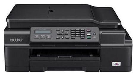 Tiskárna multifunkční Brother MFC-J200, INK Benefit (MFCJ200YJ1) černá A4, 27str./min, 10str./min, 6000 x 1200, 64 MB, WF, USB