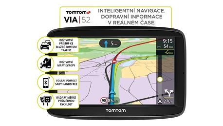 Navigační systém GPS Tomtom VIA 52 Europe LIFETIME mapy (1AP5.002.00) černá