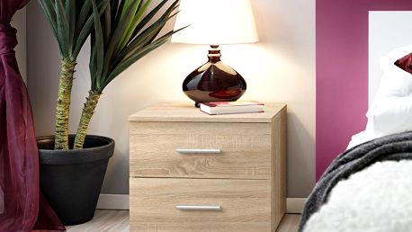 Noční stolek Vicky, dub sonoma/dub sonoma