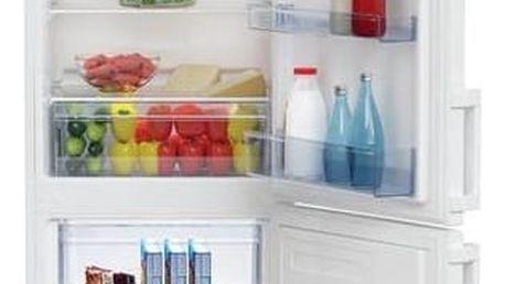 Kombinace chladničky s mrazničkou Beko RCSA 270M21W bílá + Navíc sleva 10 %