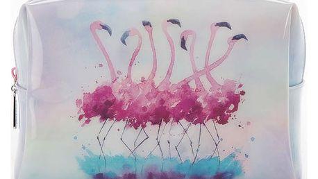 Velká kosmetická taška Catseye London Flamingo