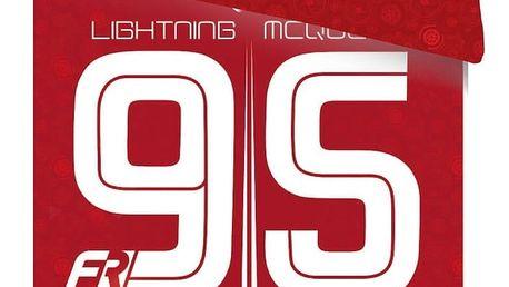 Jerry Fabrics dětské bavlněné povlečení Cars 95 red 140x200 70x90