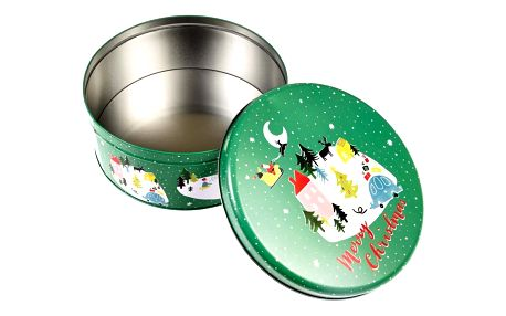 Kulatá plechová krabička Rex London Christmas Wonderland