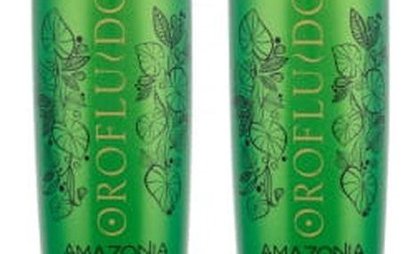 Orofluido Amazonia dárková kazeta pro ženy olejová kúra Reconstruction Oil 500 ml + čisticí lázeň Oil Rinse 500 ml
