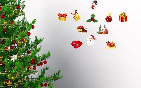 Sada 12 vánočních samolepek Ambiance Christmas decorations