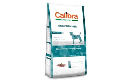 Granule Calibra Dog Grain FreeSenior Small Breed Duck 2kg