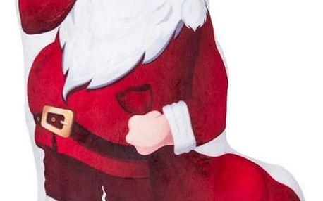 Polštářek 3D Santa 45x30 cm