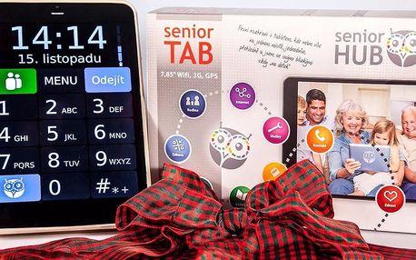 """7,85"""" tablet pro seniory včetně Oscar Senior aplikace a hry"""
