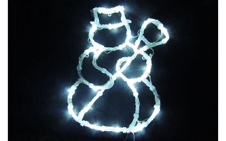 Ledko Dekorace do okna Sněhulák 24 LED, studená bílá