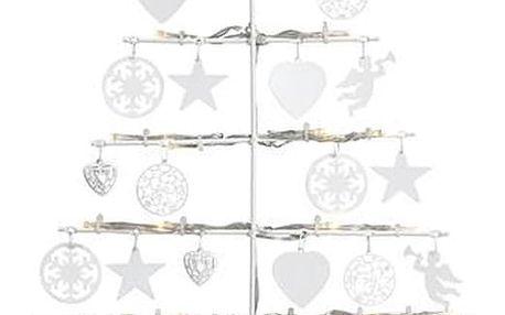 Bílá stojací LED svítící dekorace Markslöjd Borken