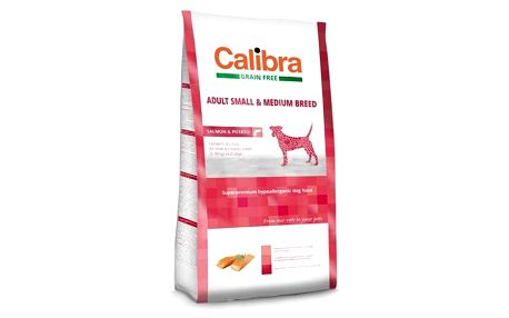 Granule Calibra Dog Grain FreeAdult Medium & Small Salmon 12kg + Doprava zdarma