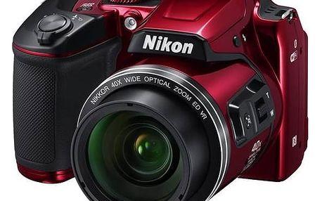 Digitální fotoaparát Nikon Coolpix B500 červený + okamžitá sleva 400 Kč! + Doprava zdarma