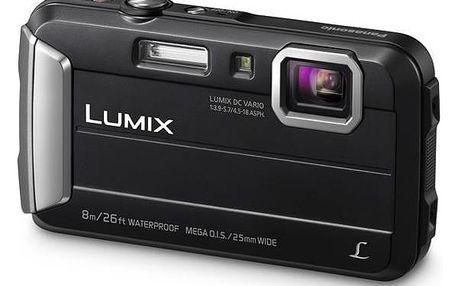 Digitální fotoaparát Panasonic DMC-FT30EP-K černý + Doprava zdarma