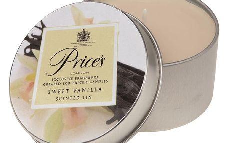 Price´s vonná svíčka v plechu Sladká vanilka, 3 ks