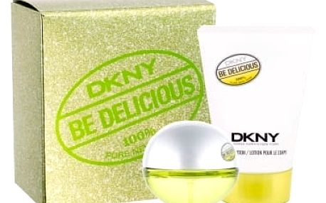 DKNY DKNY Be Delicious dárková kazeta pro ženy parfémovaná voda 30 ml + tělové mléko 100 ml